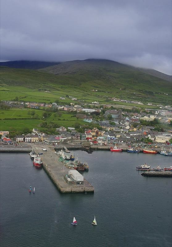 Dingle Pier and Town from the air