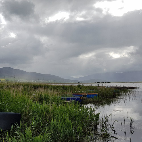 image of lough gill and boats