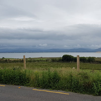 view of castlemaine harbour area from the R561 road dingle peninsula Co.kerry Ireland